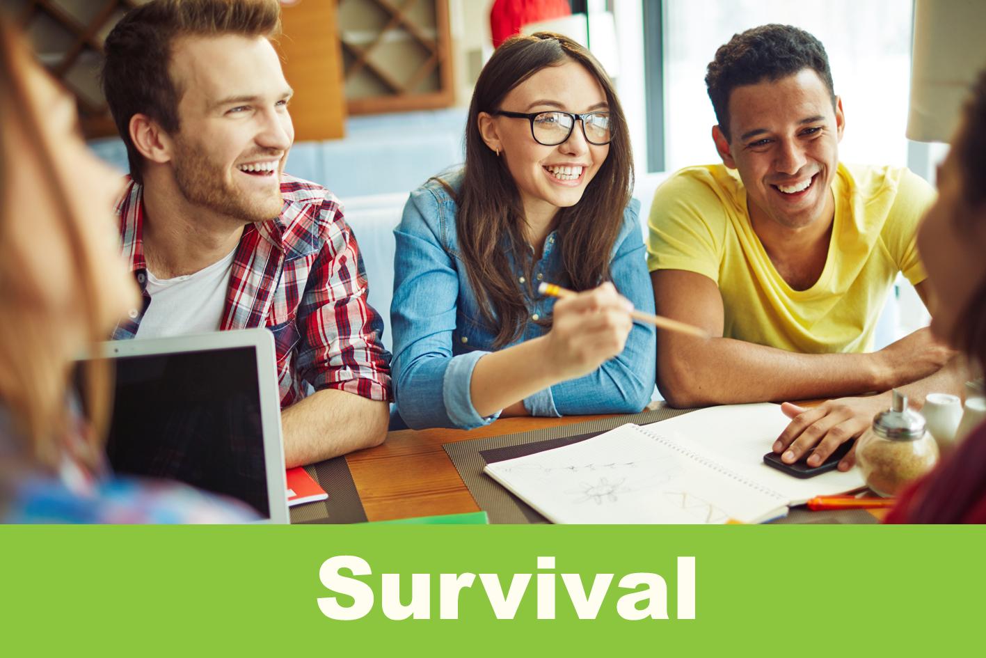 Survival evening course Tues- & Thursday / 28 April - 30 June