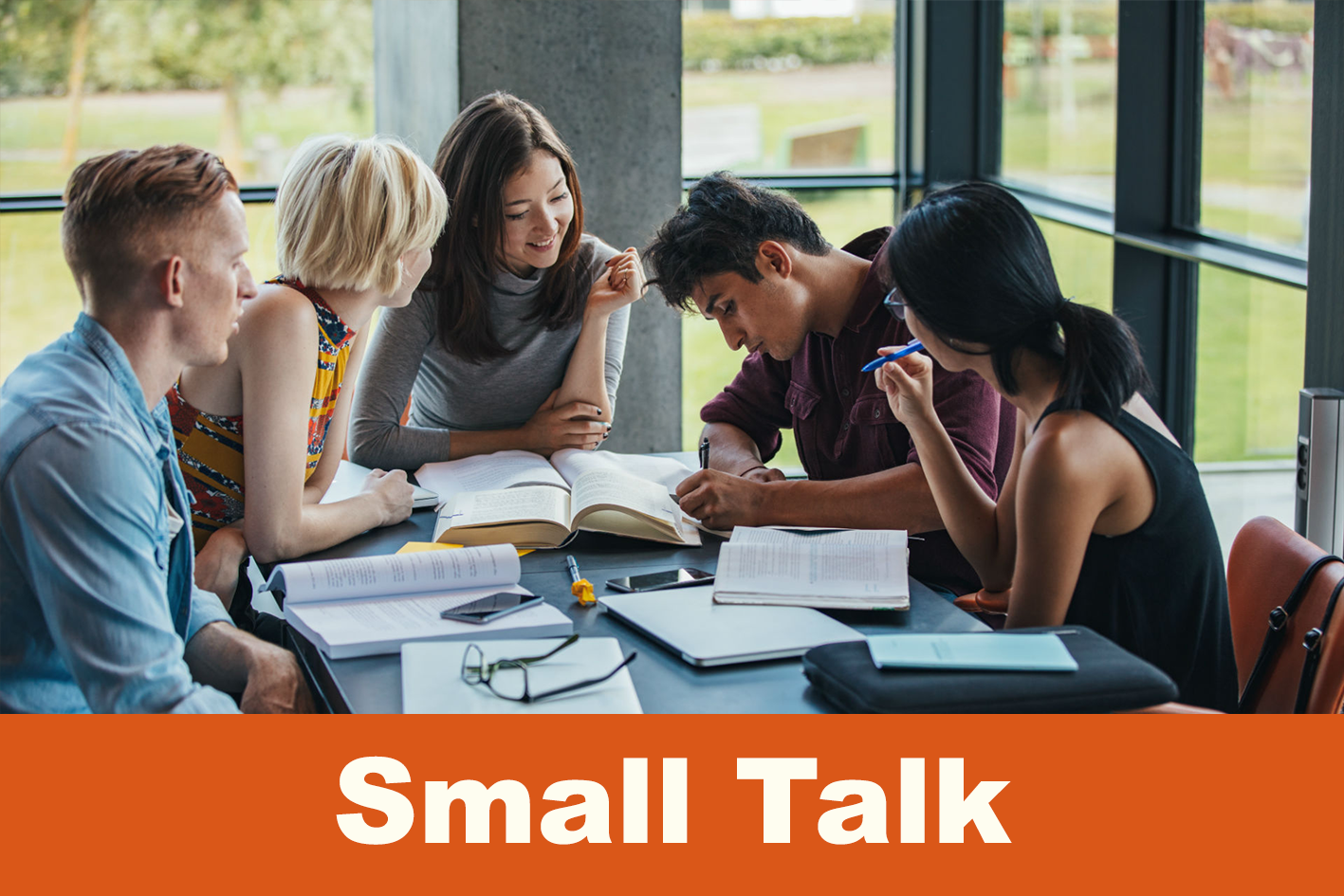 Small Talk Tuesdays evenings course / 4 August - 1 September